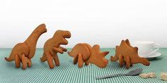 3D DINOSAUR COOKIE CUTTERS BY SUCK UK | BOM . buy on magazine . cool stuff from the net