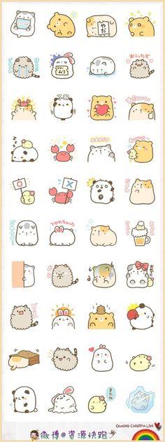 Ideas Drawing Cute Animals Kawaii For 2019 Doodles Kawaii, Kawaii Chibi, Kawaii Art, Cute Chibi, Kawaii Stickers, Cute Stickers, Printable Stickers, Doodles Bonitos, Tier Doodles