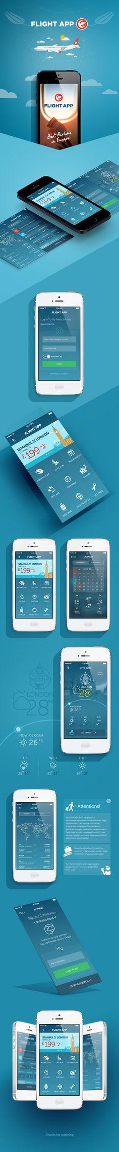 Flight App on App Design Served Iphone