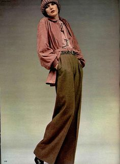 How Yves Saint Laurent changed fashion - 1972 – Yves Saint Laurent early . - How Yves Saint Laurent changed fashion – 1972 – Yves Saint Laurent early vintage fashion style casual ease elegance day wear pants blo – Source by mariewetterich - Vintage Outfits, 70s Vintage Fashion, 70s Fashion, Fashion History, Look Fashion, Fashion Outfits, Womens Fashion, Fashion Trends, Beatnik Fashion