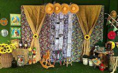 Painel de Festa Junina: 70 modelos e tutoriais para um verdadeiro arraiá How I Met Your Mother, Mom And Dad, Diy And Crafts, Layout, Inspiration, Home Decor, Celebration, Country Houses, Parties Kids