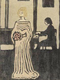Kandinsky, Sängerin, 1903, gravure sur bois en couleurs, 19,5cm x 14,5 cm, Städtische Galerie im Lenbachhaus, Munich