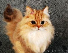 needle-felted kitty   イメージ needle felted kitty