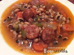 BEGORECETAS -RECETAS CON OLLAS GM Y COCINA TRADICIONAL: Judías carillas con chorizo y verduras