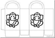 Diwali Gift Basket Bag DIY Craft for kids Printable Template (2)