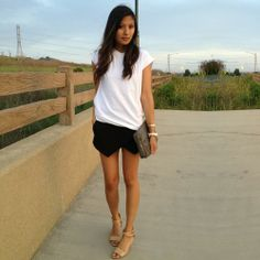 Simple outfit feat. Zara skort