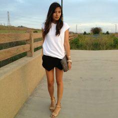 Simple outfit feat. Zara skort