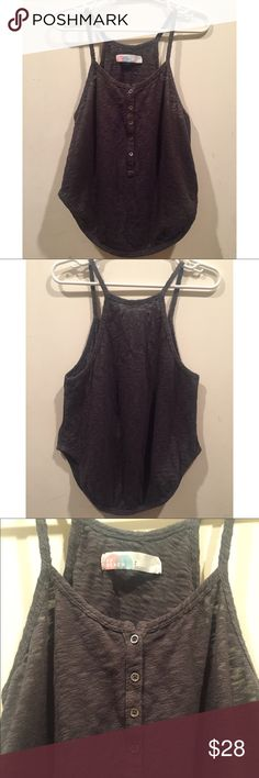 ☀️EUC Free People Beach Heather Gray Tank Top Free People Beach Heather Gray Tank Top, can be used as an adorable cover up, in size small, in excellent used condition Free People Tops Tank Tops