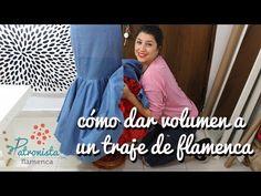 Cómo dar volumen a un traje de flamenca. - YouTube Fishtail, Dory, No Frills, Evening Dresses, Youtube, Mermaid, Sewing, Patterns, Fashion