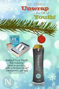 Just got news that THIS WEEKEND is the latest you can order a NeriumAD gift set and still get it in time for Christmas!  They are so popular this year, they just might sell out before Sunday!  A great gift for men and women.  Get one for yourself or for the person in your list who seems to have everything!  Save $30 and become a preferred customer!  Order at www.emilywintle.nerium.com