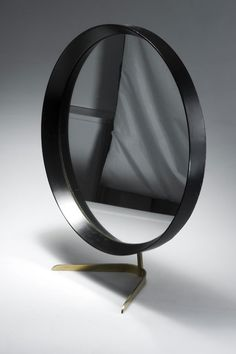 J. T. Kalmár, Brass, Glass and Painted Wood Table Mirror, c1955.