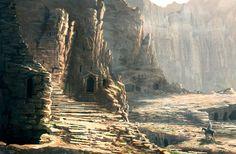 in the Petra Ruins... by Raphael-Lacoste.deviantart.com on @deviantART