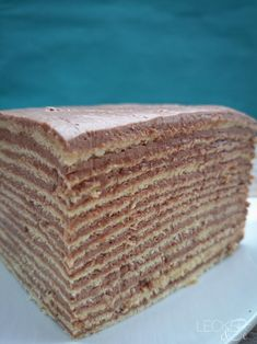 Dobosch-Torte - original rumänisch - LECKER&Co | Foodblog aus Nürnberg Nutella Brownies, Cake & Co, Brownie Bar, Koh Tao, Mole, Cake Cookies, Baking Recipes, Food And Drink, The Originals