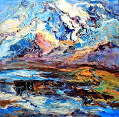 "Saatchi Online Artist: Andrew Zhao; Oil, 2009, Painting ""Impression of North West Qinghai ""  Very alive with energy!"