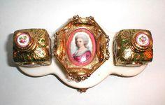 French antique perfume set