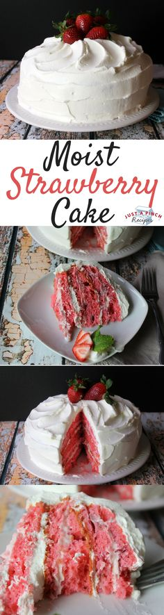 Oh my gosh, this is the mother of all strawberry cakes. It's cool, rich, refreshing and six layers of yummy flavors. We loved the mixture of cream cheese and whipped cream layers.
