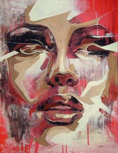 Paintings I've been doing of Urban Art and Street Art Forum with Print Release Gallery news and Art For Sale. L'art Du Portrait, Abstract Portrait, Abstract Art, Urbane Kunst, Face Art, Art Faces, Urban Art, Amazing Art, Pop Art