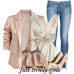 classic work wear, pink blazer with jeans, Fashion Blazers for woman http://www.justtrendygirls.com/fashion-blazers-for-woman/