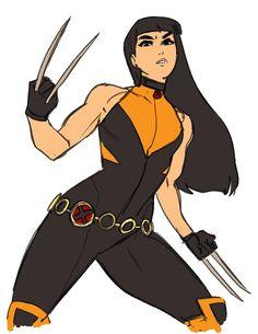 Laura redesign/warm up drawing by Kris Anka Superhero Suits, Superhero Characters, Superhero Design, Female Characters, Book Characters, Super Hero Outfits, Super Hero Costumes, Marvel Xmen, Marvel Art