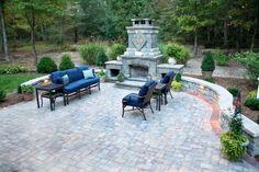 Patio, Retainer Wall, & Fireplace YORKTOWN MATERIALS PINTEREST INSPRIATION