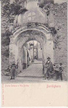 Stengel & Co Postcard - Bordighera - Porta Solana e Via Dritta - 6773 Book Collection, Vintage Postcards, Denmark, Taj Mahal, Italy, World, Painting, Travel, Google