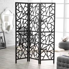 Finley Home Abstract Lines Room Divider | from hayneedle.com