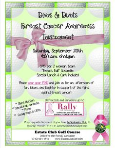 Thanks to everyone at Estate Golf Club for getting involved with Rally for the Cure!