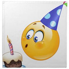 Illustration about Birthday emoticon blowing cake candle. Illustration of emoji, button, child - 31709842 Birthday Emoticons, Happy Birthday Emoji, Happy Birthday Wishes Images, Funny Emoticons, Smileys, Funny Emoji, Birthday Greetings, Birthday Cards, Smiley Emoji