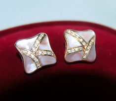 BRILLANT OHRSTECKER / 585 GOLD 14 kt  Earrings OHRRINGE