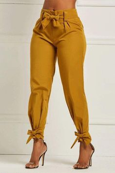 Ericdress Bowknot Plain Womens Pencil Pants We Offer Top Good Quality Cheap Clothes For Women And Men Clothing Wholesaler, Get Affordable Clothing At Worldwide. Fashion Pants, Look Fashion, Fashion Dresses, Womens Fashion, Fashion Trends, Women's Dresses, Ladies Fashion, Fashion Clothes, Fashion Styles