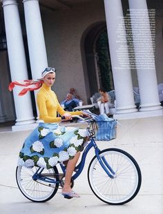 Chic girls on bikes