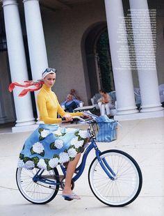 Chic girl on a bike