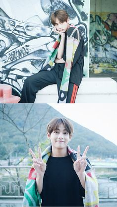 He's so cute #taetae #BTS #V