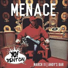 DJ Menace from 94.5 The Boom will be headlining for the next @yodentonraps party coming up on 3/11 at Andy\'s.  #yodenton #dentonslacker #denton #Dentontexas #dentontx #dentonsquare #den10 #unt #twu #dentoning #dentonite #thedentonite #wedentondoit #wddi