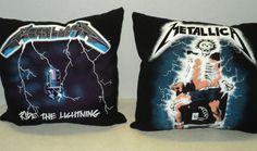 Metallica  Ride The Lightning Tshirt pillow by NoveltyShirtPillows, $25.00