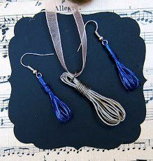Tiny Wire Whisk Earrings and Pendant