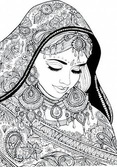 антистресс Индийская девушка