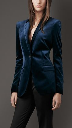 Burberry London Stretch-Velvet Jacket