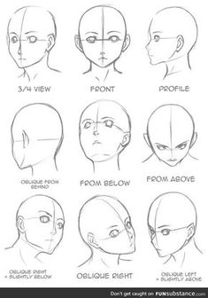 Manga Drawing Tips Drawing Tips Face shape Drawing Heads, Painting & Drawing, Drawing Drawing, Drawing Face Shapes, Face Proportions Drawing, Simple Face Drawing, Facial Proportions, Drawing Style, Painting Lessons