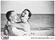 bride and groom beach session
