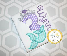 Items Similar To Mermaid Birthday Shirt Girls Little Outfit Personalized On