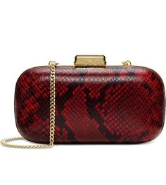 Michael Kors W/ Bonus-Python Embossed Dome Clutch Or Shoulder Bag