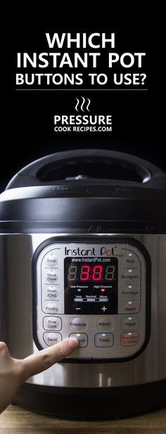 A simple guide to learn which Instant Pot Buttons to use to start cooking with your Instant Pot Electric Pressure Cooker! via @pressurecookrec