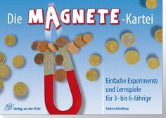 Die Magnete-Kartei – Einfache Experimente und Lernspiele für 3- bis 6-Jährige ++ Fragen zu ergründen, macht Kindern großen Spaß – besonders mit den spannenden #Experimenten, #Rätseln und #Spielen dieser Kartei! Die ergänzenden Erklärungen sind wissenschaftlich fundiert und #kindgemäß aufbereitetet. Hinweise und #Tipps im mitgelieferten Begleitheft erleichtern den Einsatz der Kartei.  #Kita #Kindergarten #Anfangsunterricht
