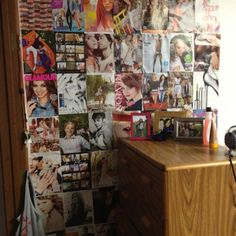 Magazine ads, bye-bye boring white dorm room walls!