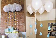 Детский День рождения дома: украшение стен