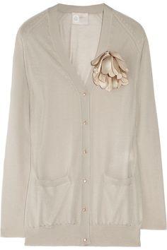 LANVIN  Flower-embellished cashmere cardigan  £1,243