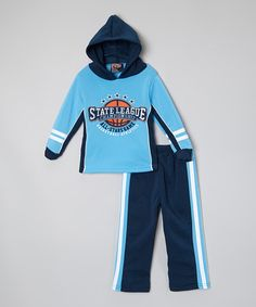 Blue 'State League' Hoodie & Navy Pants - Toddler & Boys by Allura Imports #zulily #zulilyfinds