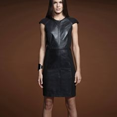 Trend Alert: Rochia de piele - Style And The City Black, Dresses, Fashion, Vestidos, Moda, Black People, Fashion Styles, Dress, Fashion Illustrations