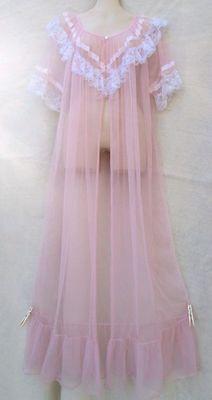 flowy sheer pink robe